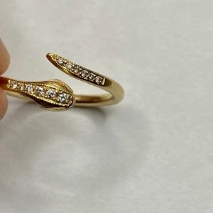 RARE Zoe Chicco 14k Diamond Snake Ring